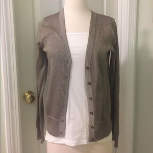 Gold button up cardigan